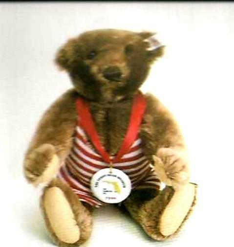 STEIFF  TEDDY BEAR WIGGINS  EAN 665158 LIM ED FOR TEDDY BEAR MUSEUM NAPLES FL