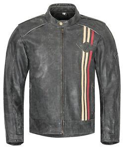 Herren-Motorradjacke-XLS-Classic-Urban-Motorrad-Lederjacke-Retro-schwarz