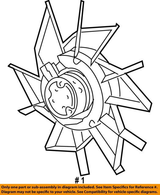 Chrysler Oem Radiator Cooling Fan Blade 68031871aa