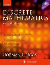 Discrete Mathematics, Very Good Condition Book, Biggs, Norman L., ISBN 978019850