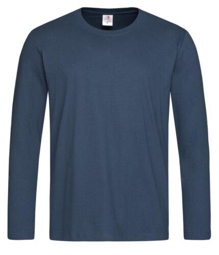 Cotone Tinta Unita Nero Blu Verde Marrone Grigio Bianco Manica Lunga T-Shirt