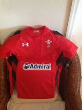 WALES WRU UNDER ARMOUR WELSH RUGBY UNION ADMIRAL JERSEY NWT SIZE S Mens