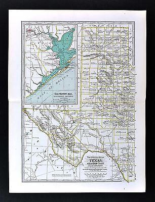 1898 Century Atlas Map West Texas Panhandle El Paso Lubbock ... on blank map of fredericksburg, blank map of dallas, blank map of atlanta, blank map of texas, blank map of charleston, blank map of cozumel, blank map of jacksonville, blank map of virginia beach, blank map of new orleans,
