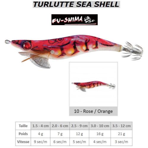 Jigger jig lure fu-shima sea shell pink//orange squid Cuttlefish squid rococo