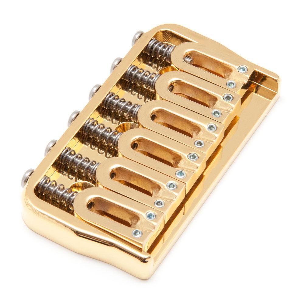 Hipshot 6 String .125 Hardtail Fixed Bridge (Gold)