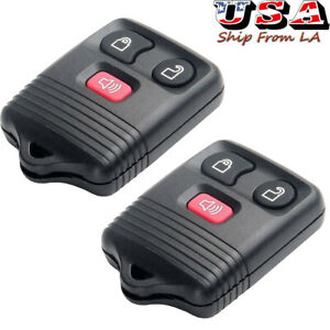 2x New Keyless Entry Remote Car Key Fob Clicker Transmitter Control For Ford