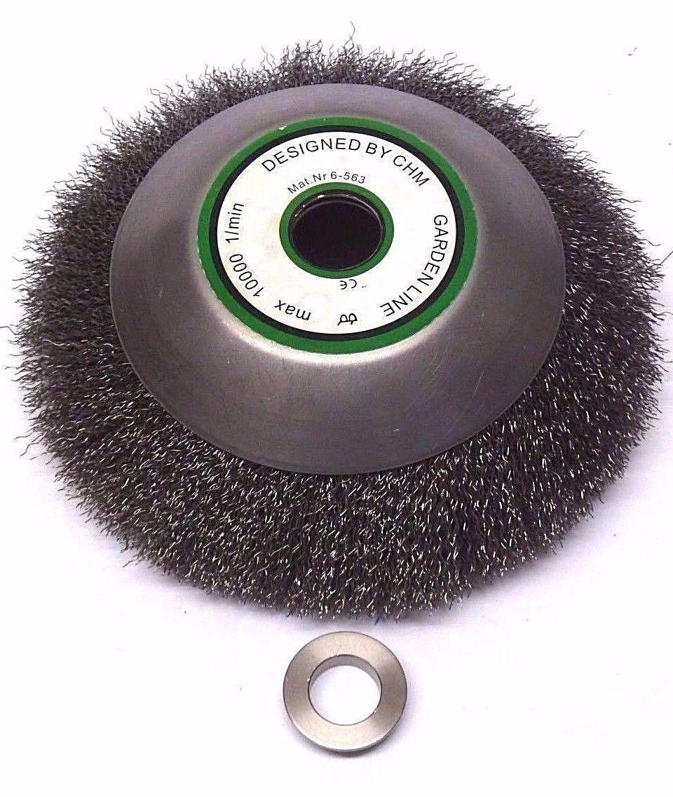 Weed Brush Wildkrautbürste 200 x 20 mm Wire Brush Brush Cutter Brushcutter