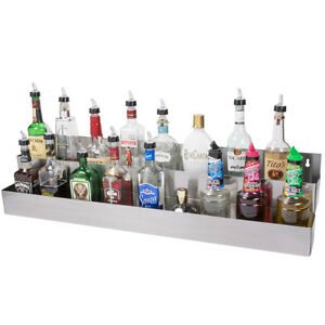 Details About 42 Stainless Steel Double Tier Commercial Bar Sd Rail Liquor Display Rack