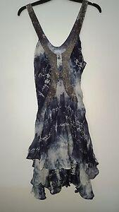 Sequin Sass Uk10 Bide Size Dress Mesh Us2 Eu38 amp; nn4gF