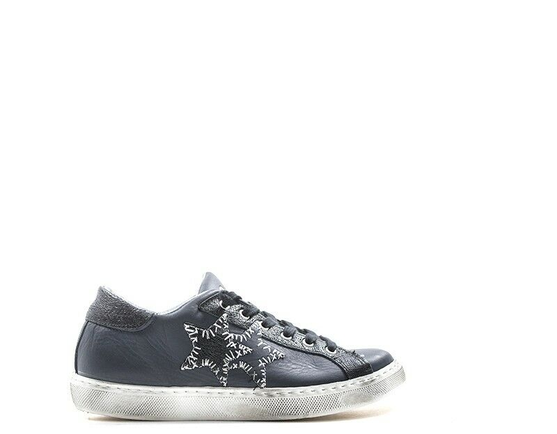 shoes 2 STAR women Sneakers Trendy  blue Pelle naturale 2SD2006
