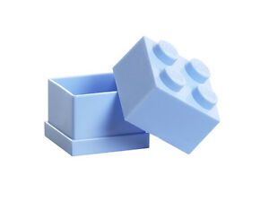 LEGO Storage MINI Snackbox 4 HELLBLAU perfeckt in Brotdose Schule Lunchbox BLUE