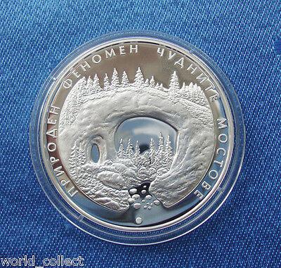 Silver coin 10 leva 2012 Natural Rock phenomenon Wondrous bridges MINT + COA
