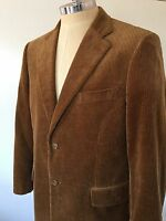 John W Nordstrom 44R Brown Corduroy Suit Coat Sport Jacket Mens Fall Blazer New