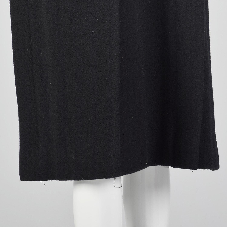 Small 1980s Pauline Trigere Coat Black Wool Winte… - image 6