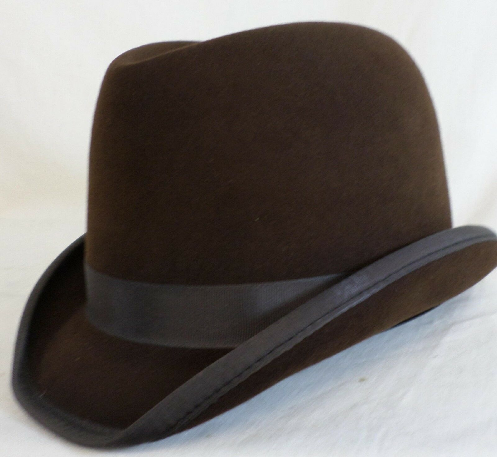 Reed Hill Saddleseat Homburg Hat Marroneee Fur Fur Fur Felt 61 2 - Made In USA 9e1a2b
