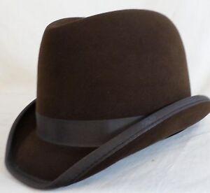 e11210b7af4 Reed Hill Saddleseat Homburg Hat Brown Fur Felt 65 8 - Made In USA ...