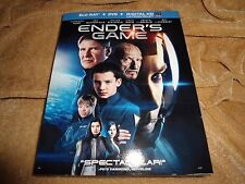 Ender's Game (2013) [Blu-ray + DVD] WITH SLIP COVER BOX