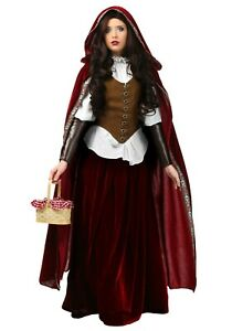 WOMEN-039-S-DELUXE-RED-RIDING-HOOD-COSTUME-USED-SIZE-MEDIUM-with-defect