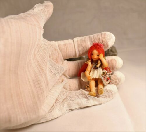 Künstler- & handgemachte Puppen Puppen & Zubehör Miniature 1:24 Little Foxberry OOAK BJD art doll by Julia Arts