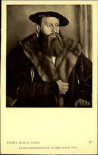 Künstlerkarte J. Löwy Wien 1907 Mann Bildnis nach Gemälde Künstler Bartel BEHAM