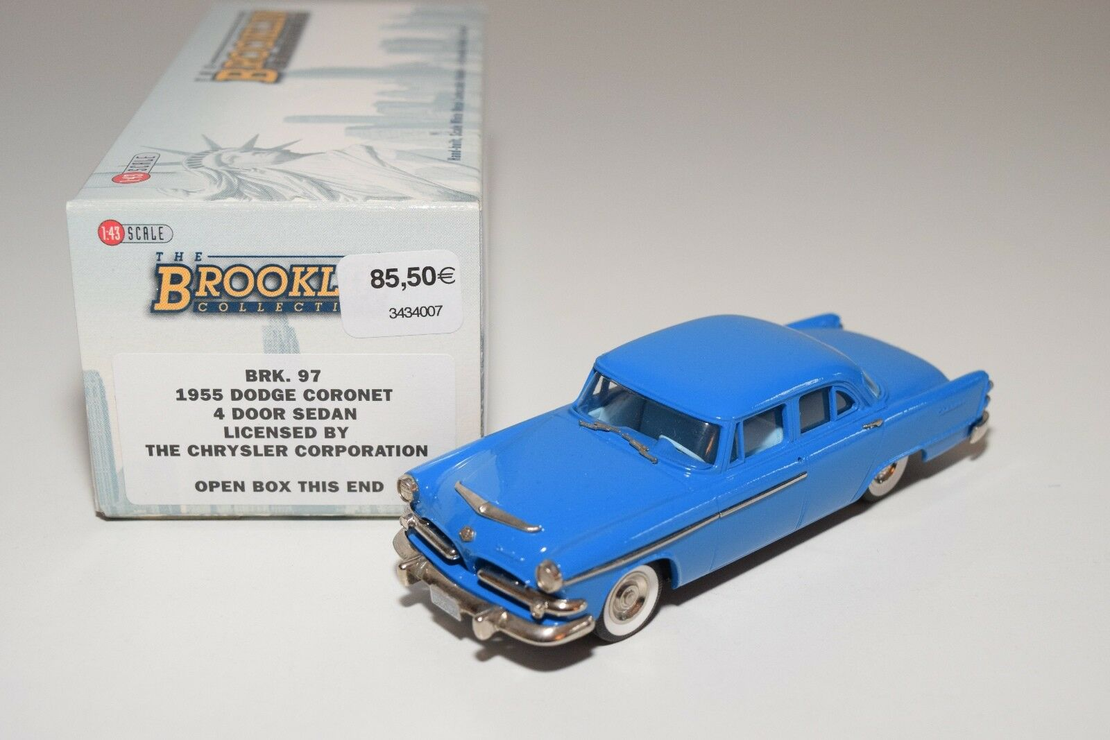 BROOKLIN BRK 97 DODGE CoroNET 4-DOOR SEDAN blu MINT BOXED
