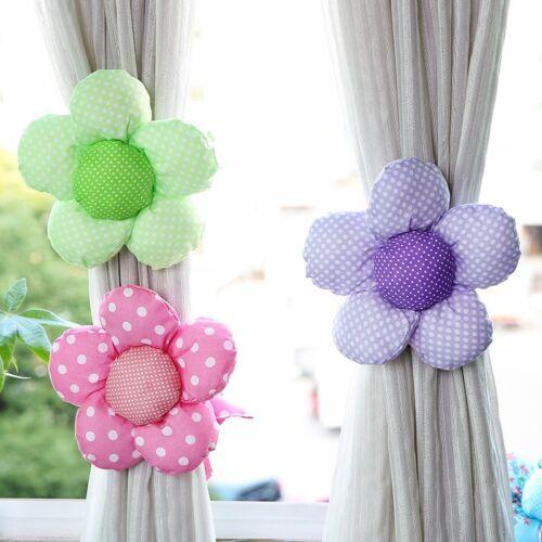 Curtain Tieback Sunflower Shape Drapes Holdbacks Window Curtain Strap Decor 1pc
