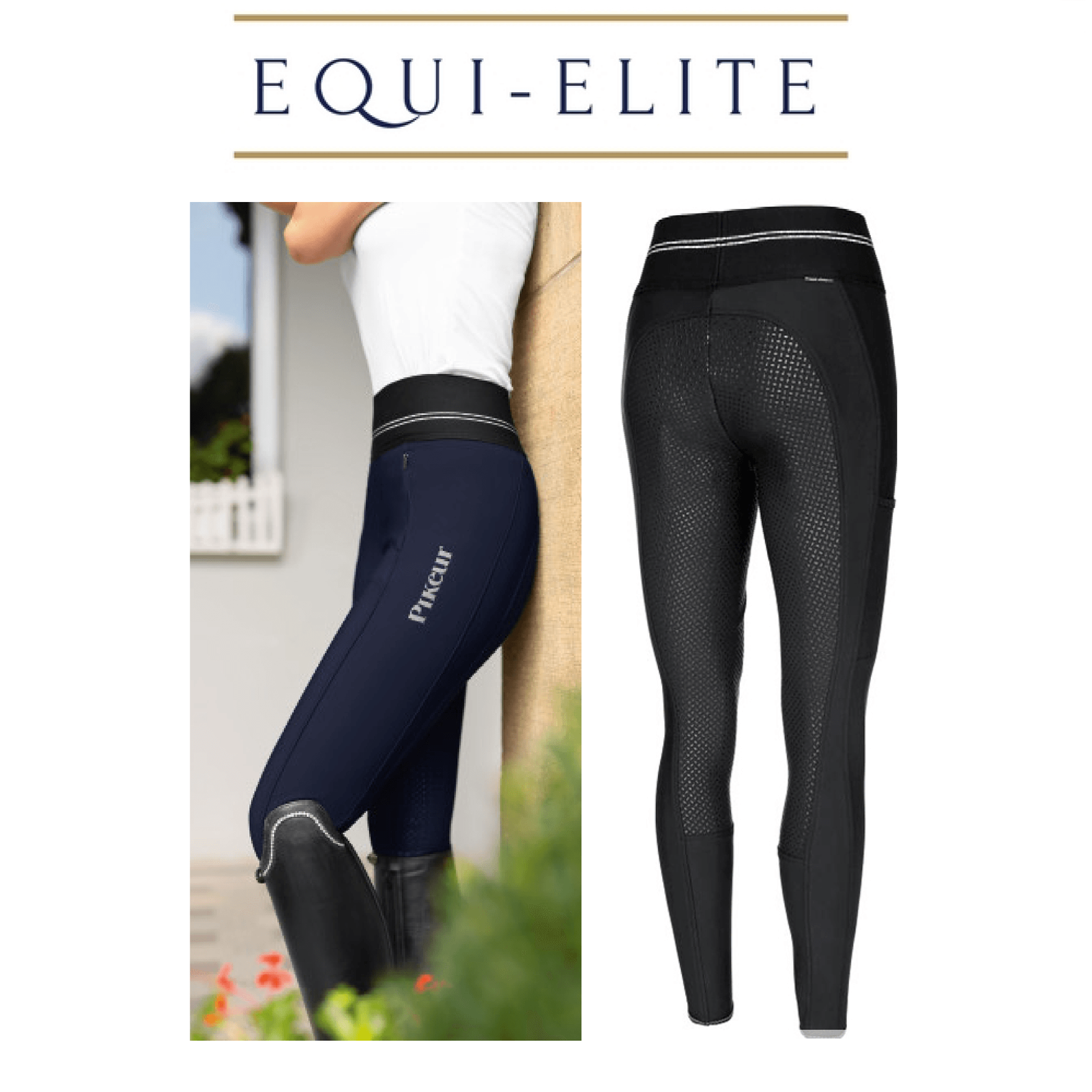 Pikeur GIA Grip athleisure Inverno Softshell PantaloniPull On A CAVALLO Collant