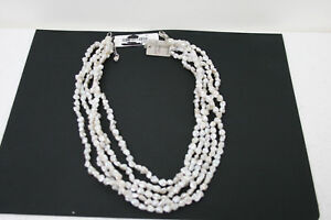 Cultured-Freshwater-Pearl-Necklace-with-Sterling-Silver-Clasp-21-Inches-5-strand
