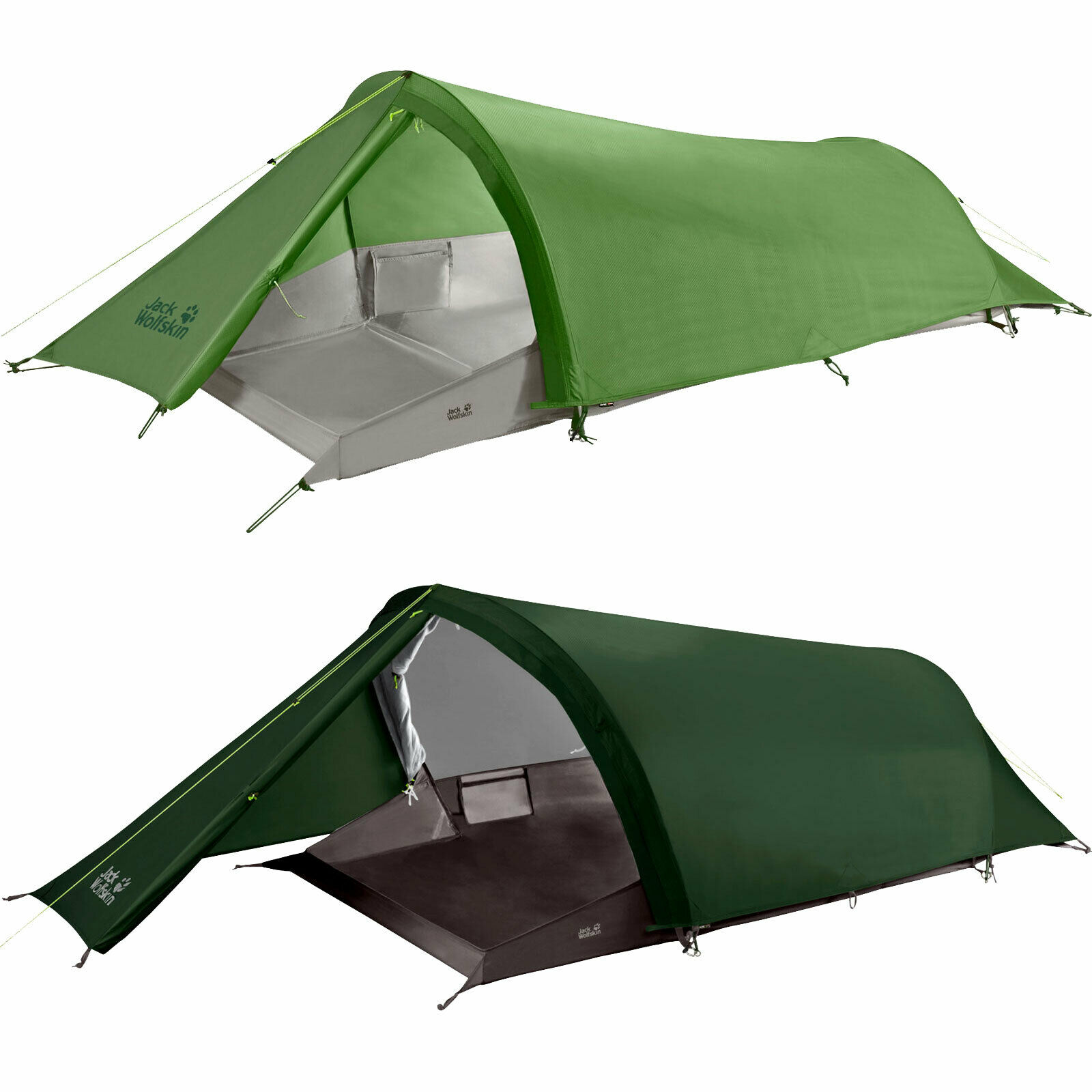 s l1600 - Jack Wolfskin Gossamer Tienda Tunel Excursión Trekking Camping Exterior