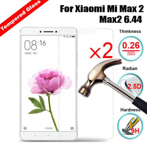 2Pcs 100/%Genuine Tempered Glass Screen Protector For Xiaomi Mi Max 2 Max2 6.44