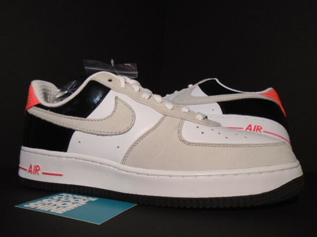2008 NIKE AIR FORCE 1 LOW PREMIUM MAX 90 WHITE COOL GREY BLACK INFRARED PINK 11