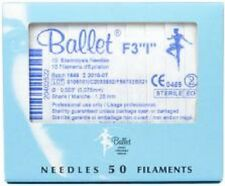 """Ballet Electrolysis Needles F3 """"I"""" -50PK"""