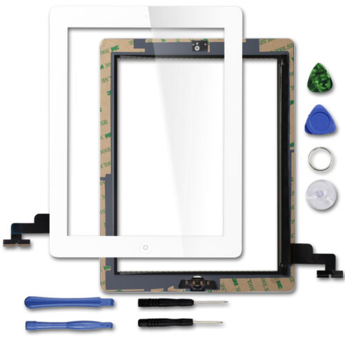 For iPad 23air Digitizer Replacement Touch Screen Glass Lens With IC Chip+Home