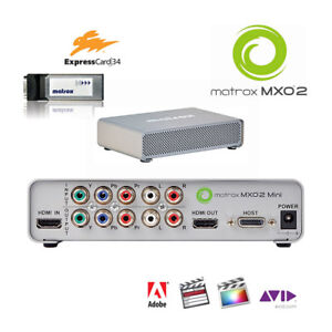 Matrox-MXO2-Mini-I-O-Box-f-Notebook-Expresscard-HDMI-8-channel-Audio-analog-YC