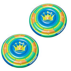 Swimline-60-034-Highroller-Island-Inflatable-2-Rider-Swimming-Pool-Float-2-Pack