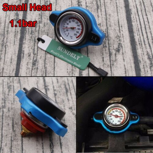 Universal Small Head 1.1 Bar Thermost Radiator Cap Cover Water Temperature Gauge