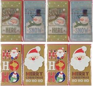 Pack-Of-8-Christmas-Money-Wallet-Gift-Cards-amp-Envelopes-Cute-Santa-amp-Snowman