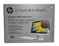 Hp 22-b013w 22 Touch Screen All-in-one Pc - Snow White - Sealed Free Shipping