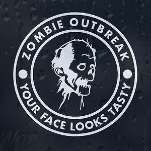 Zombie-Response-Outbreak-Tasty-Face-Funny-Car-Window-Laptop-Decal-Vinyl-Sticker