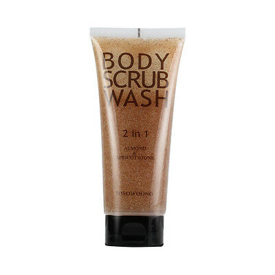 TOSOWOONG Perfume Almond Body Scrub Wash - 160g