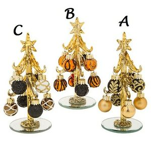 image is loading new glass black gold orange decorated bauble christmas