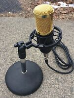 W2eny Desk Or Boom Studio Microphone For Icom 746 756 7300 7600 7700 7800