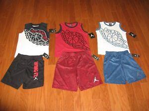 6e5cd037c13f Air Jordan 2 Piece T-Shirt   Shorts Outfit Set Boys 4 5 6 7 NWT