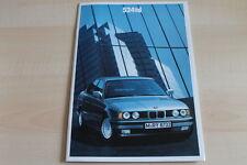 91552) BMW 5er Reihe E34 524td Prospekt 02/1990