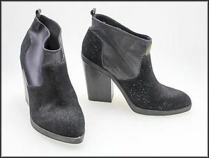 ZU-WOMEN-039-S-FASHION-ANKLE-HIGH-HEEL-PULL-ON-BOOTS-SHOES-SIZE-10