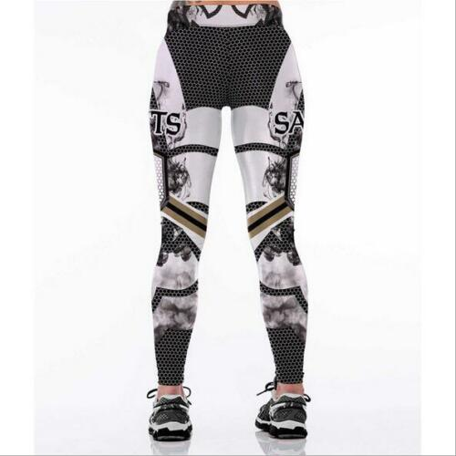 S-4XL Woman Leggings Orleans saints printed high waist wide belt legging 0098