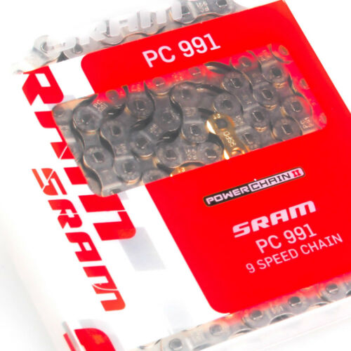 SRAM PC-991 9 speed Silver Chain with Powerlink