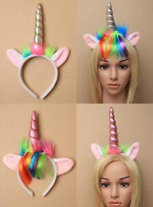 Magical Unicorn Horn Head Party Hair Headband Fancy Dress Cosplay