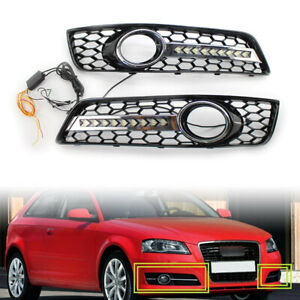Front-Fog-Light-Lamp-Cover-Grill-Lower-Bumper-Grille-For-Audi-A3-8P-2009-2013-12