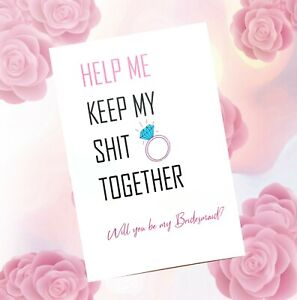 Will you be my Maid of Honour Card Funny Maid of Honor Gift